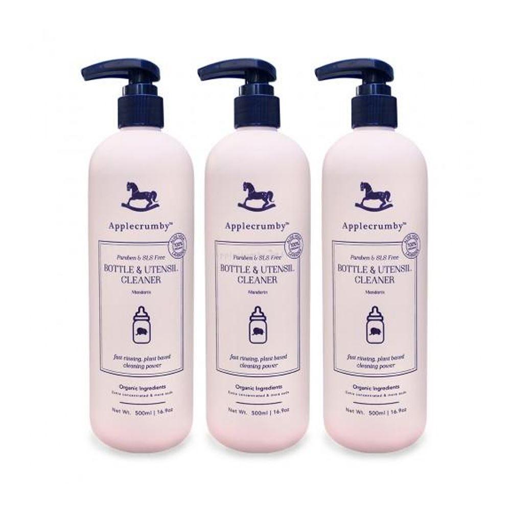 Applecrumby™ Bottle & Utensil Cleaner Triple Pack Bundle (500ml x 3 bottles)