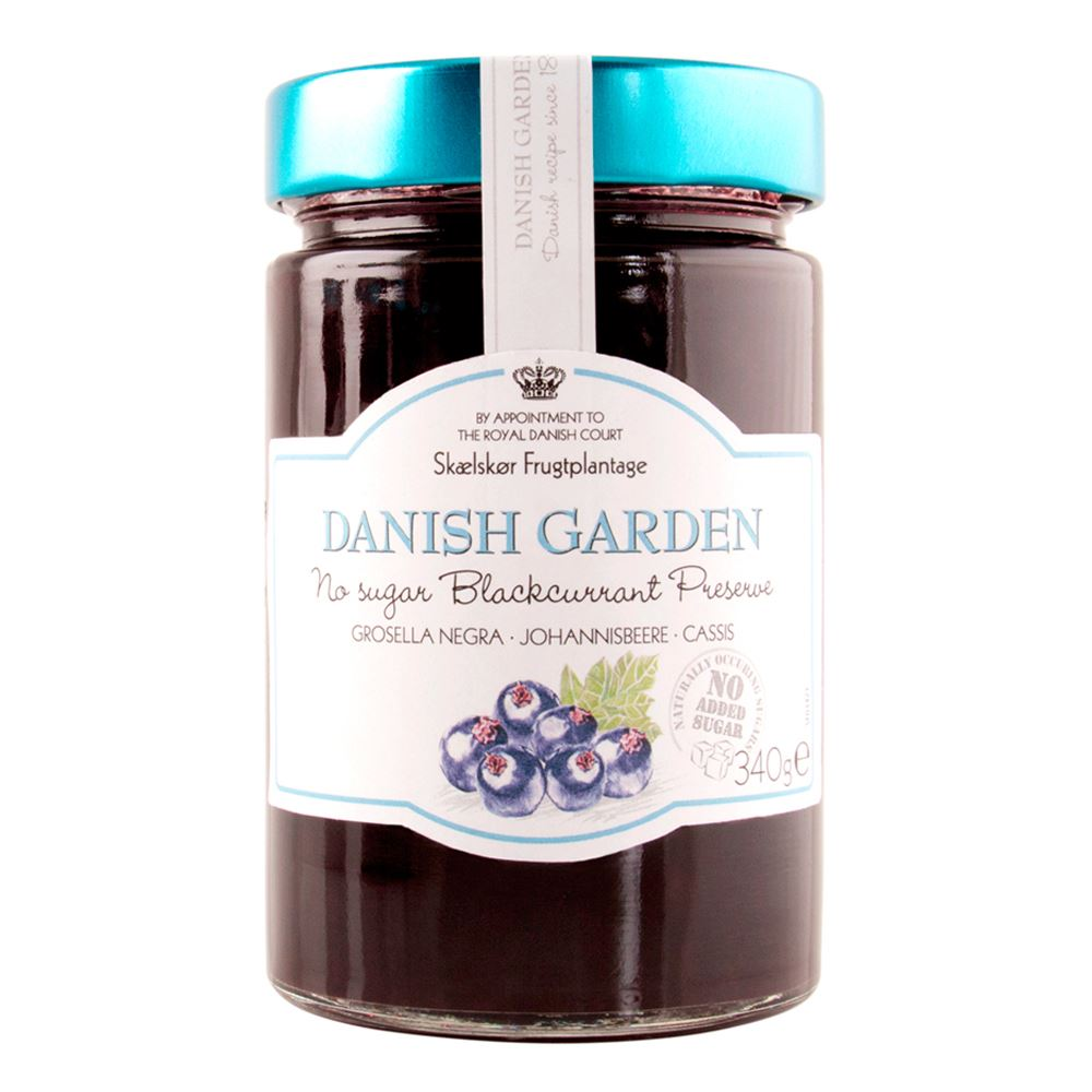 Danish Garden (No Sugar Added) Blackcurrant Preserve