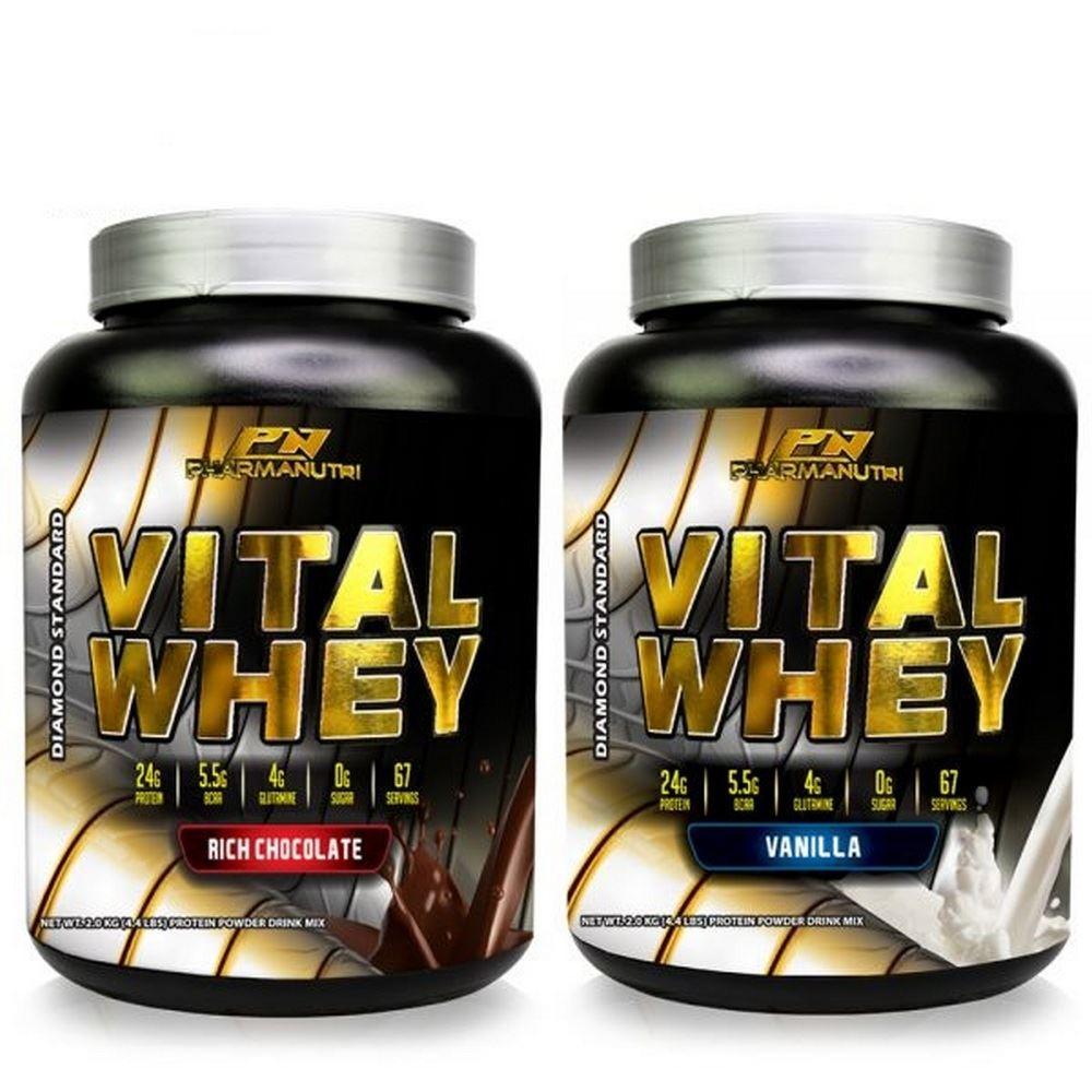 Vital Whey 2kg Isolate 24g Protein (Chocolate/Vanilla)