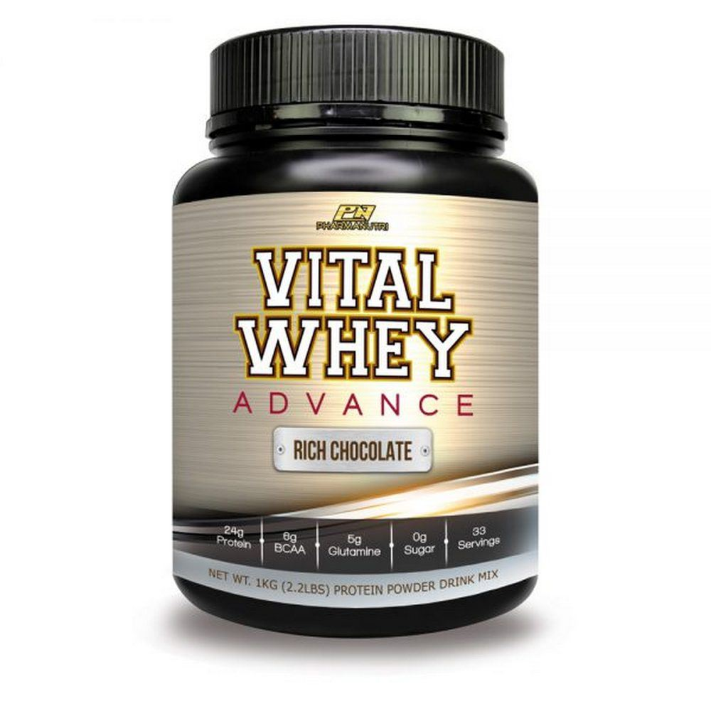 Vital Whey Advance 1kg Isolate 24g Protein (Chocolate) with Tribulus