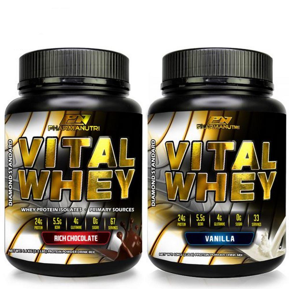 Vital Whey 1kg Isolate 24g Protein (Chocolate/Vanilla)