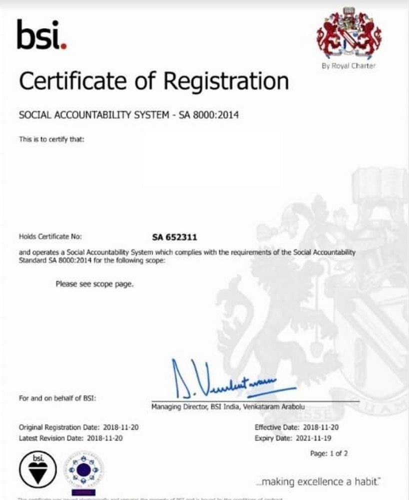 SA 8000:2014