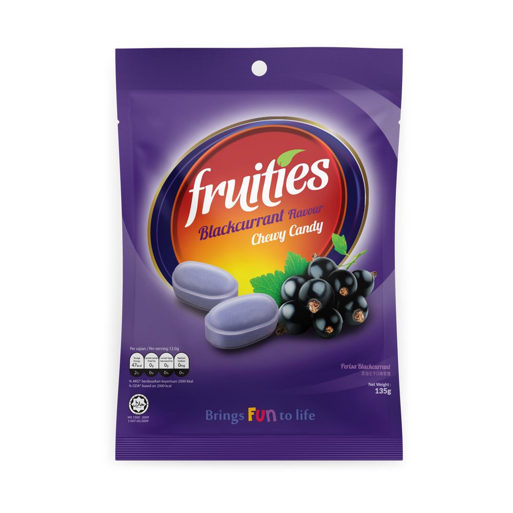 Fruities Blackcurrant Chewy Candy (135g)