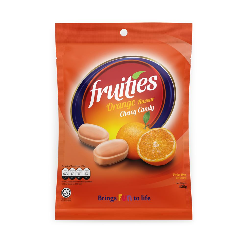 Fruities Orange Chewy Candy (135g)