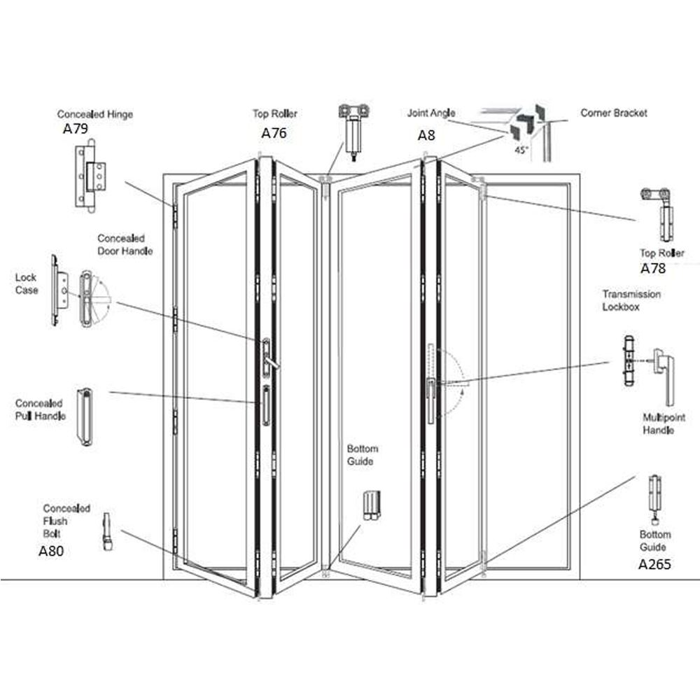 Folding Door (Concealed Hinge Series)