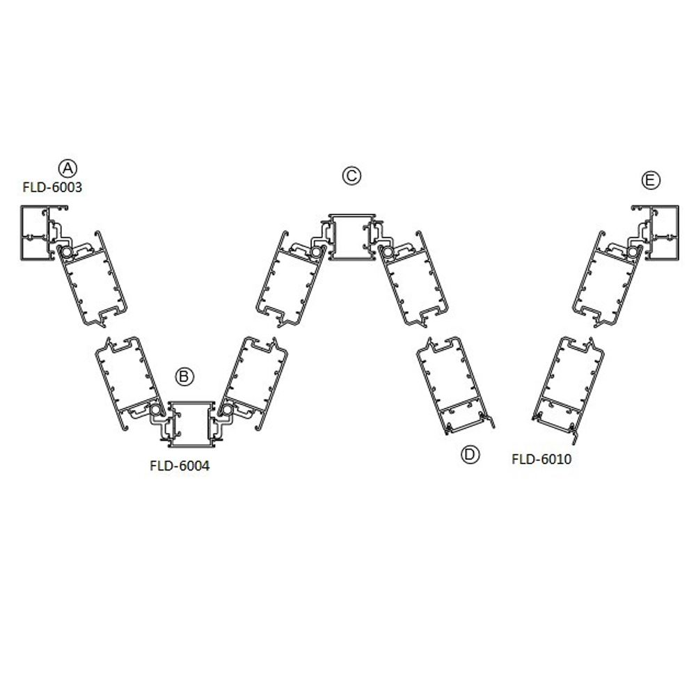 Folding Door (Concealed Hinge Series)