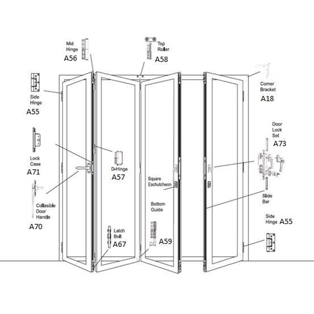 Folding Door (Exposed Hinge Series)