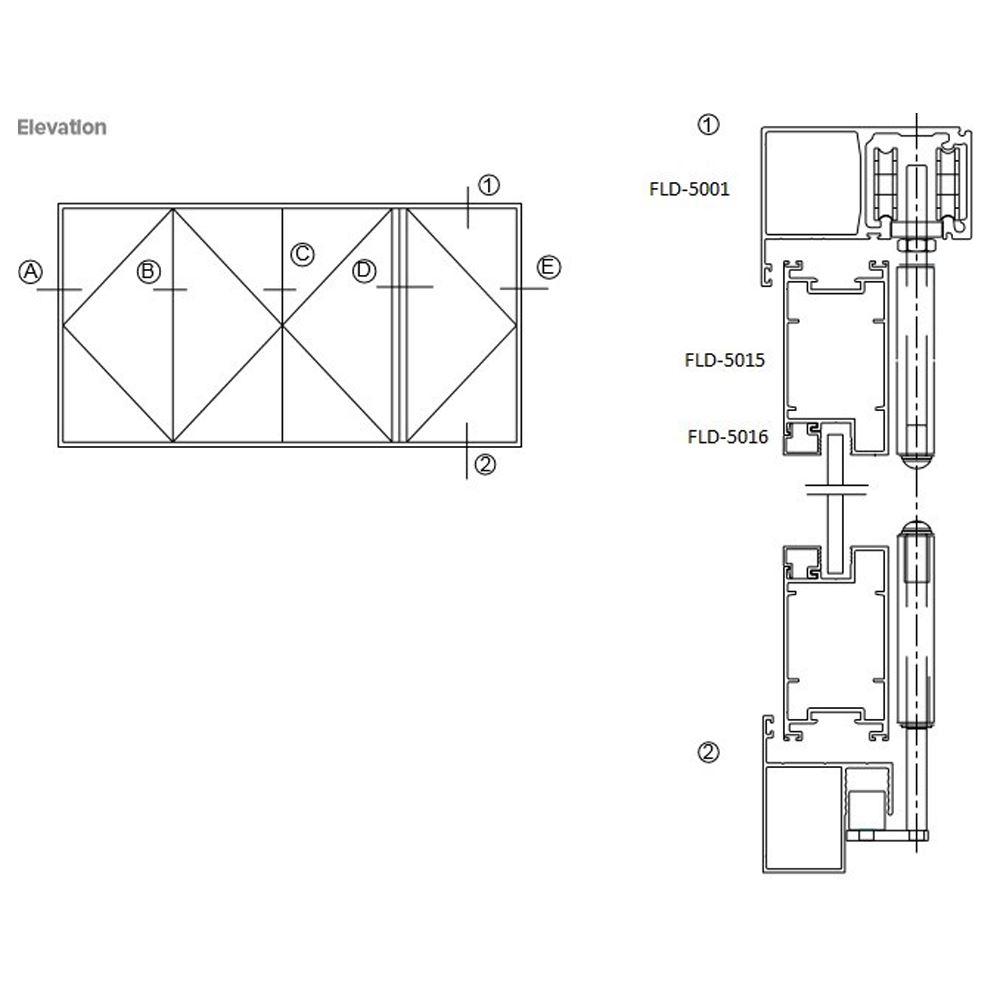 Folding Door (Exposed Hinge Series)