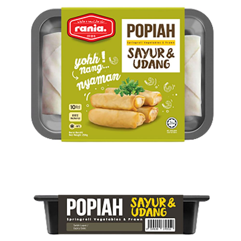 Rania Popiah Sayur & Udang (Vegetables & Prawn Springrolls)