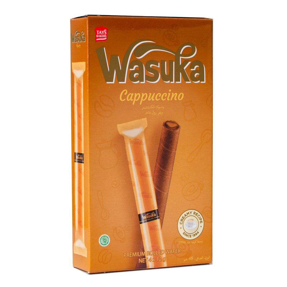 Wasuka Wafer Roll Cappuccino Flavour