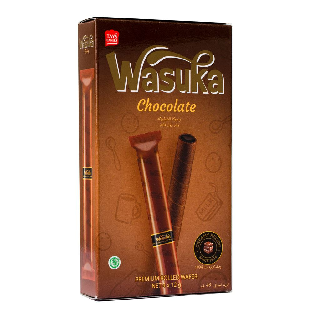 Wasuka Wafer Roll Chocolate Flavour