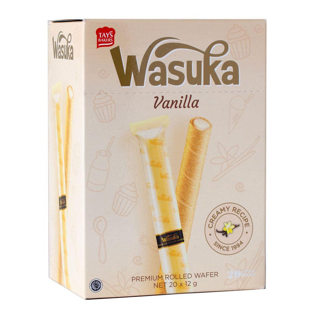 Wasuka Wafer Roll Vanilla Flavour