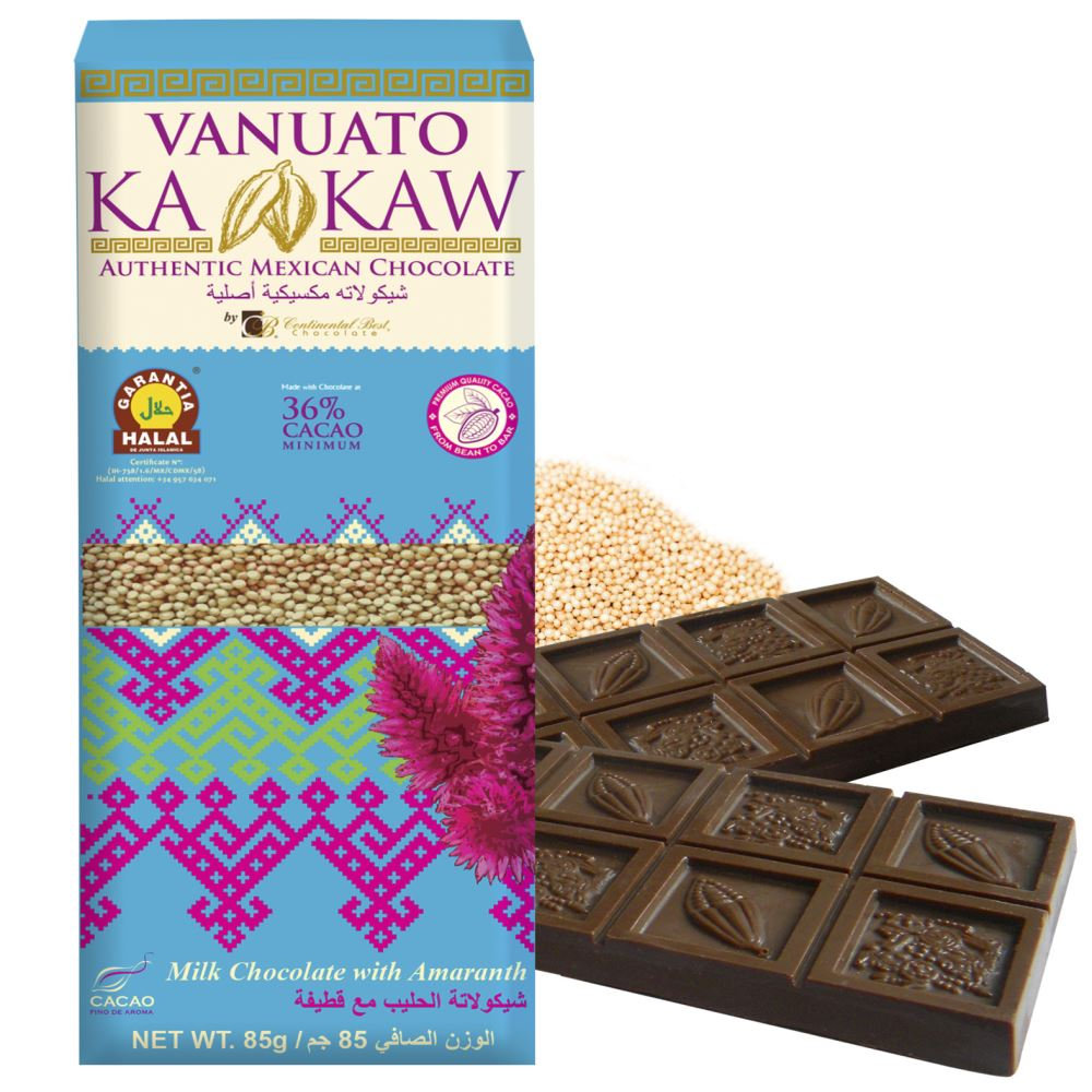 Vanuato Kakaw Milk Chocalate with Amaranth
