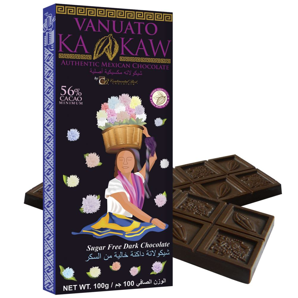 Vanuato Kakaw Sugar Free Dark Chocolate