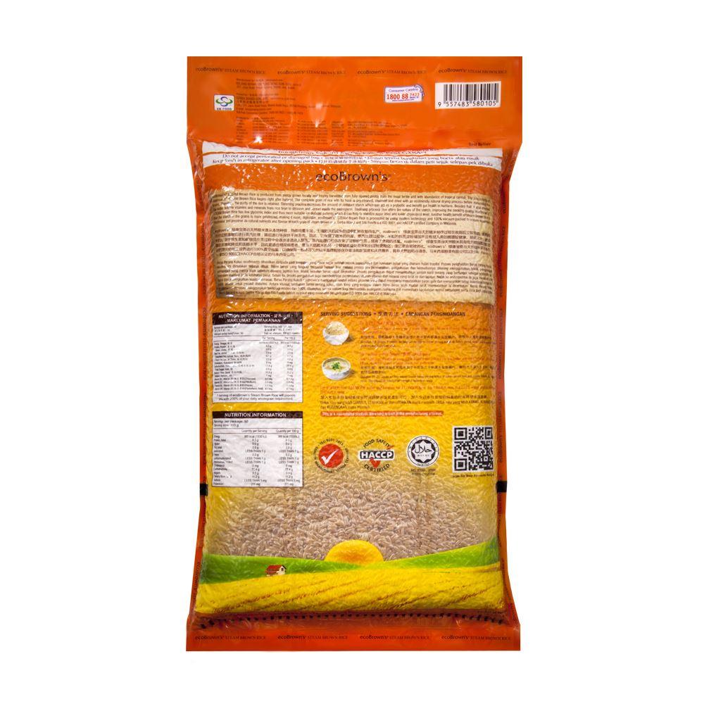 ecoBrown's Steam Brown Rice (Beras Perang Kukus)