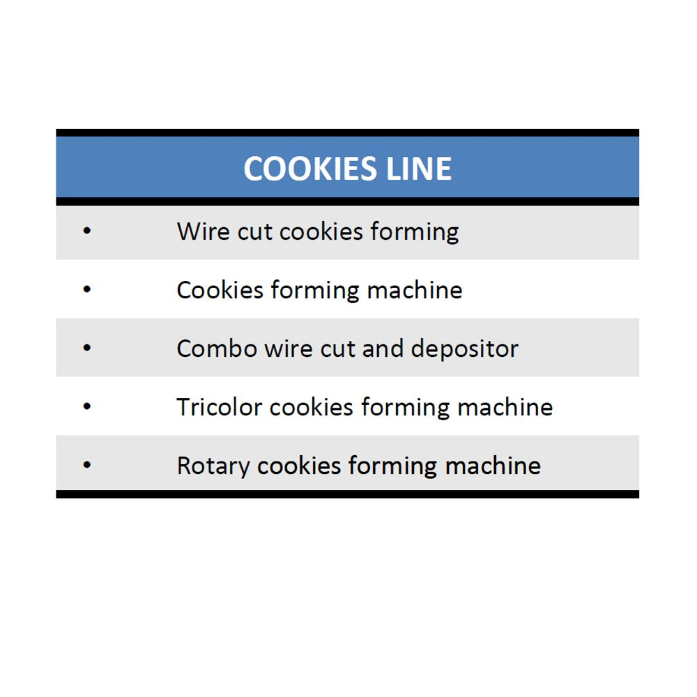 Cookies Line   Bakery/Pastry Equipment Supplier And Manufacturer Malaysia