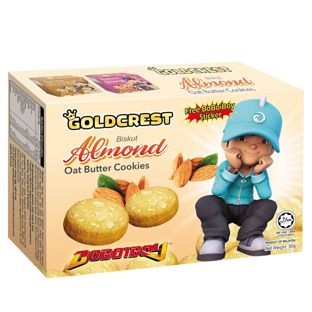 BoBoiBoy Butter Cookies Almond | Halal Snack Food Supplier Malaysia