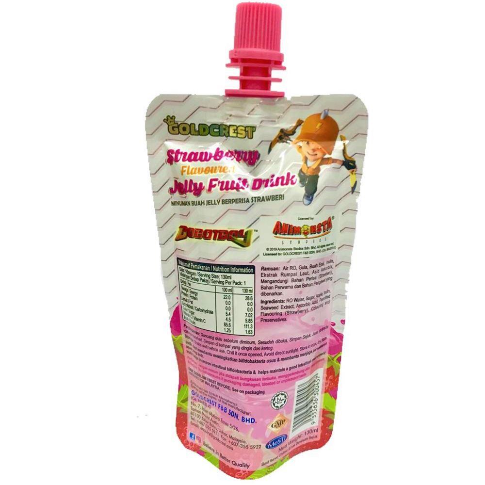 BoboiBoy Jelly Fruit Drink Strawberry   Halal Jelly Fruit Drinks Supplier Malaysia
