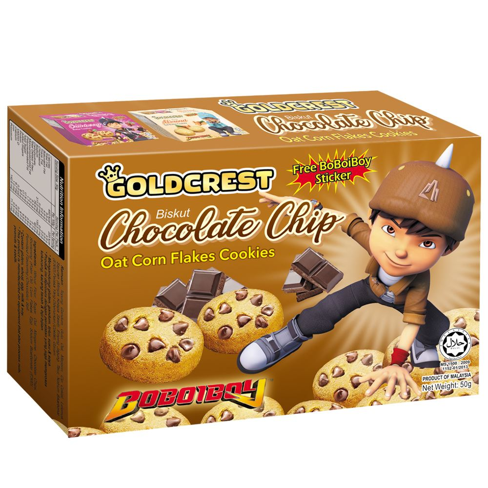 BoBoiBoy Butter Cookies Chocolate Chip