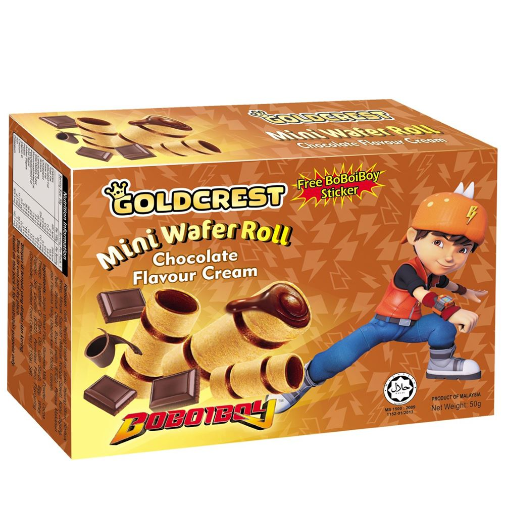 BoBoiBoy Mini Wafer Roll Chocolate