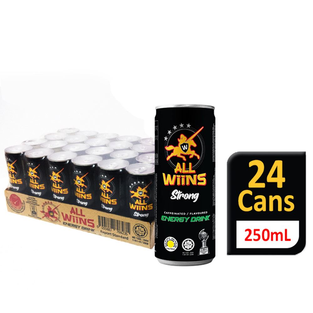 ALL WiiNS Strong Energy Drink (Carbonated) 250mL