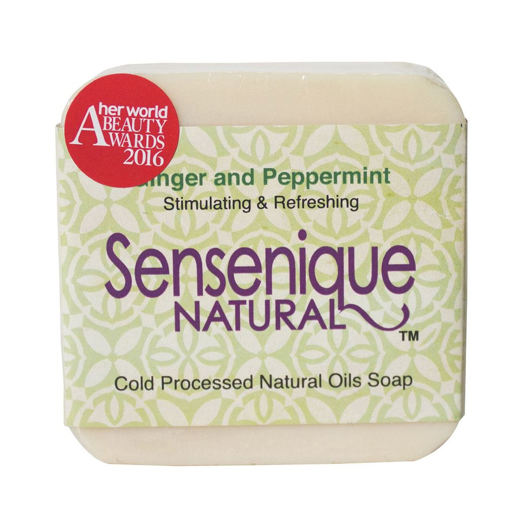 Sensenique Natural – Ginger and Peppermint Natural Handmade Soap