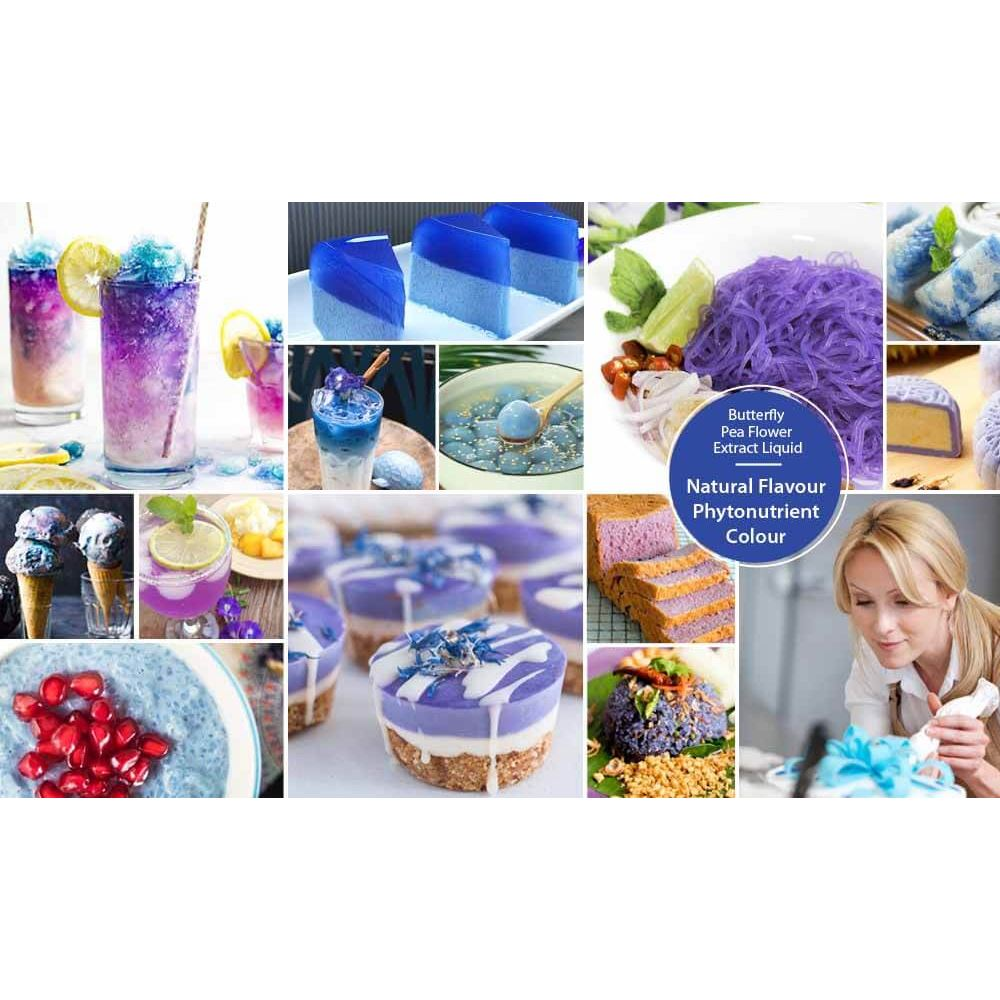 Butterfly Pea Flower (Clitoria ternatea L.) Standardized Extract Liquid Concentrate, Fresh Natural A
