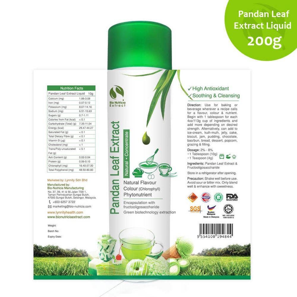 Pandan Leaf (Pandanus amaryllifolius) Standardized Extract Liquid Concentrate, Vanilla of the East,