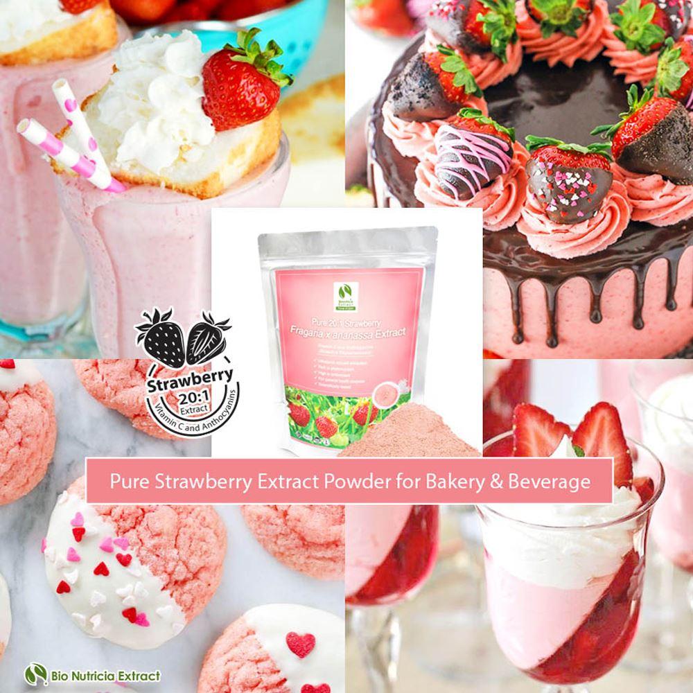 Strawberry (Fragaria x Ananassa) Standardized Extract Powder