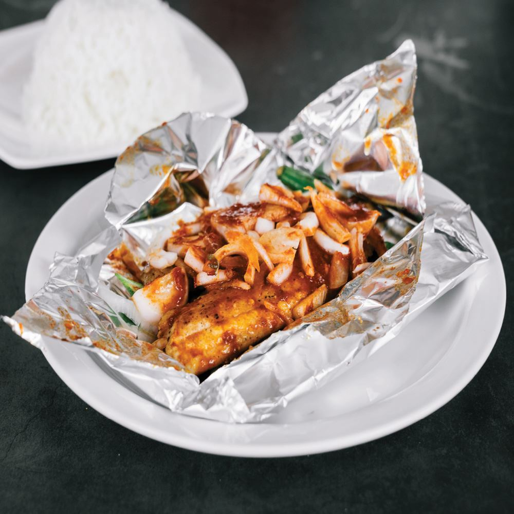 Grilled Sambal Fish Fillet With White Rice