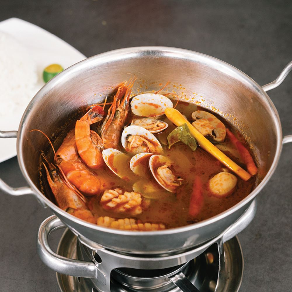 Seafood Tomyam With White Rice