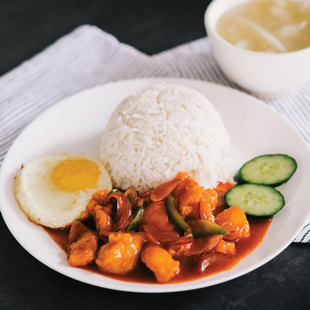 Sweet & Sour Chicken with Rice