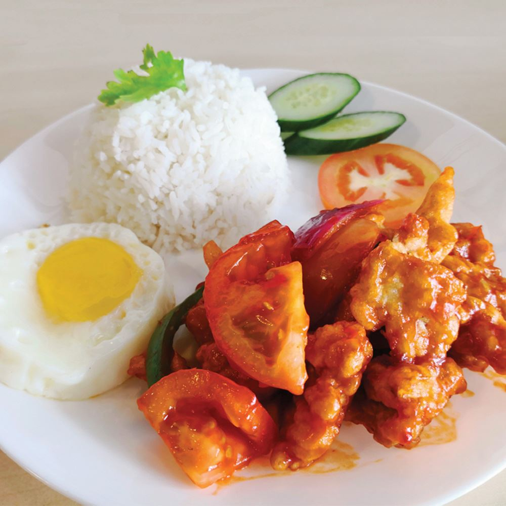 Sweet & Sour fish with Rice