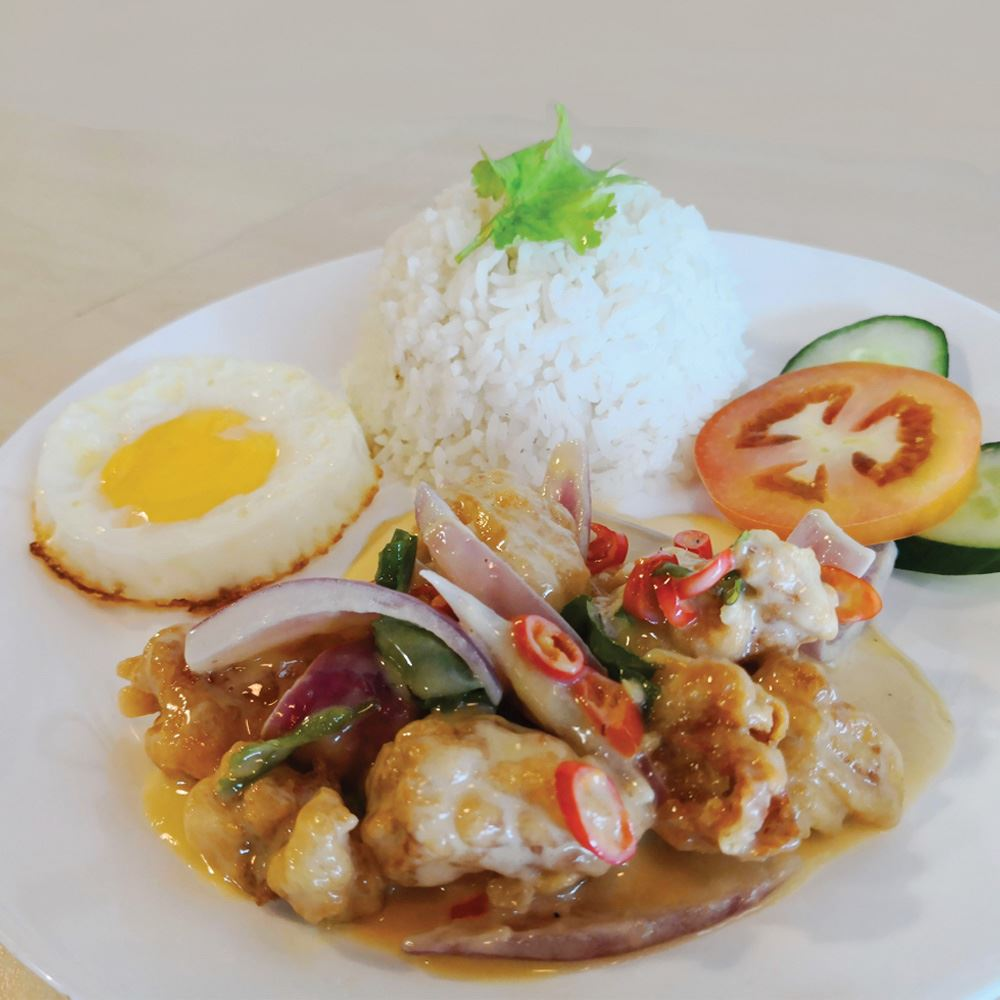 Buttermilk Fish with Rice