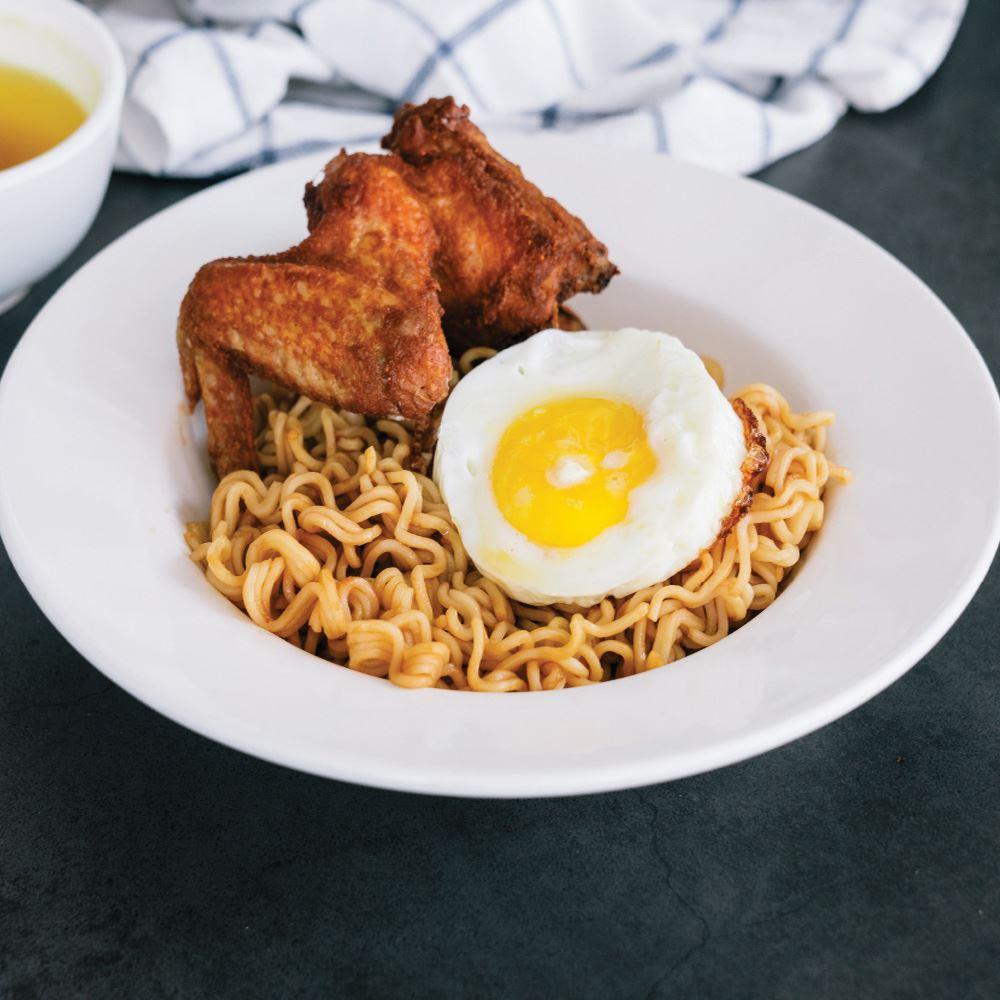 Dry Noodle Chicken Wing
