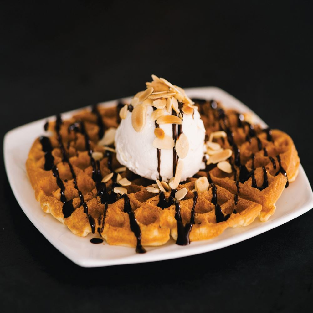 Single Waffle & 1 Scoop of Homemade Ice Cream