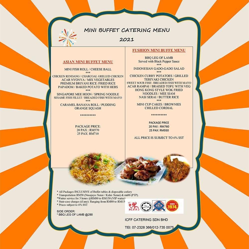 Mini Asian Catering Menu 2021