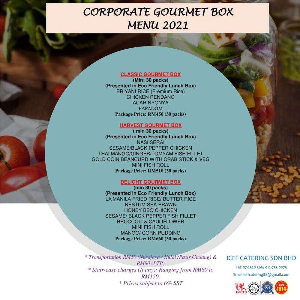 Corporate Gourmet Box Menu 2021