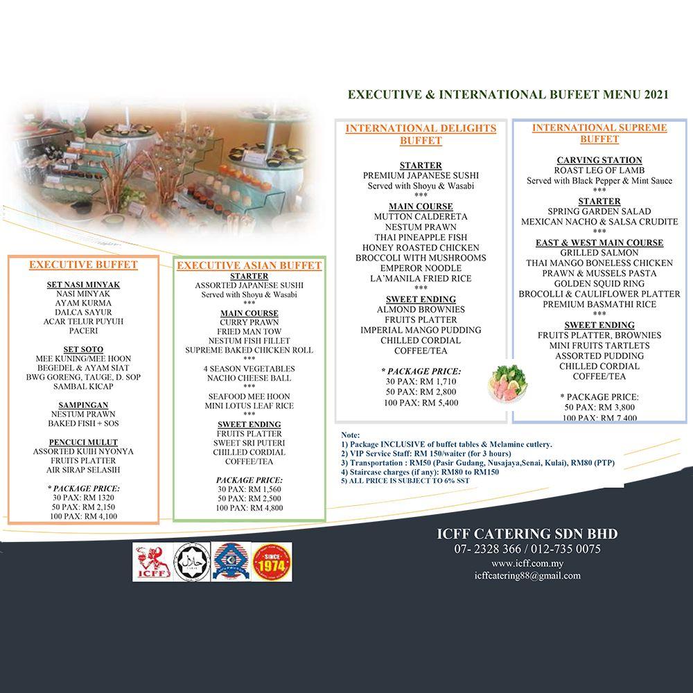 Executive & International Catering Menu 2021
