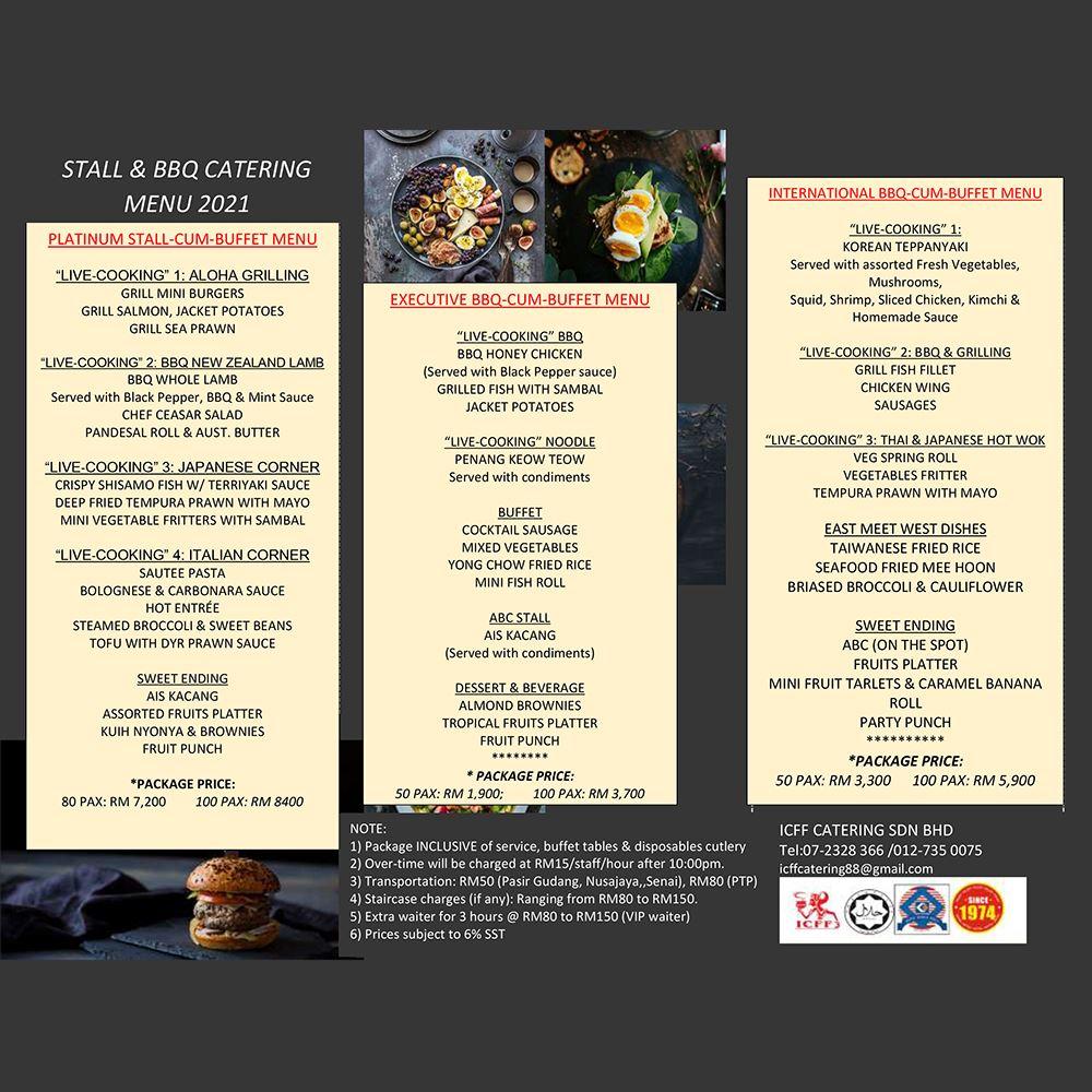 Stall & BBQ Menu 2021