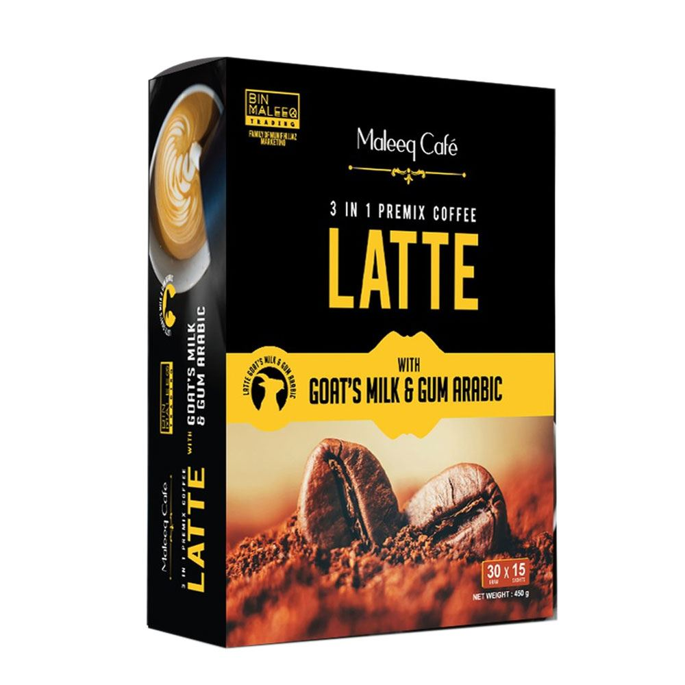 Premix Coffee Maleeq Cafe Latte With Goat's Milk And Arabic Gum