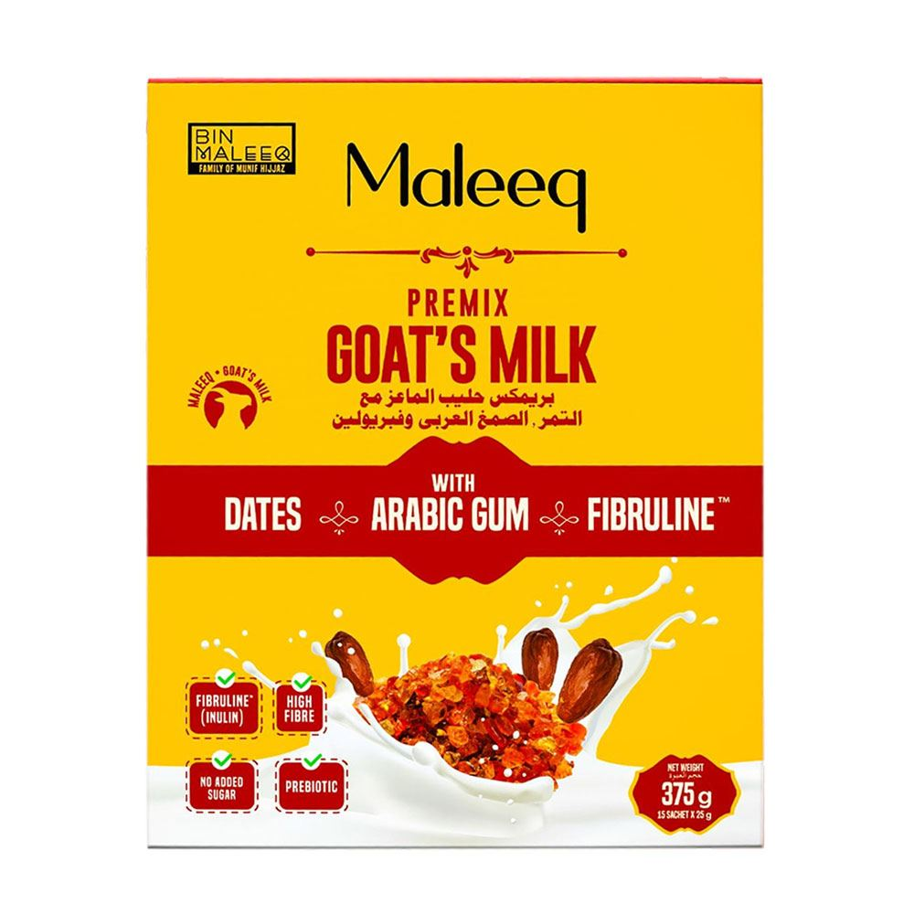 Premix Maleeq Goat's Milk With Dates, Arabic Gum And Fibruline