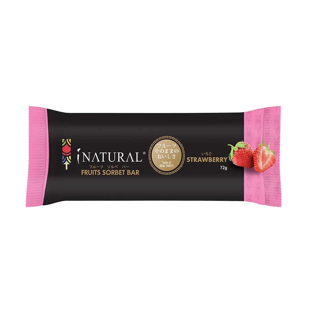 iNatural Strawberry Fruits Sorbet
