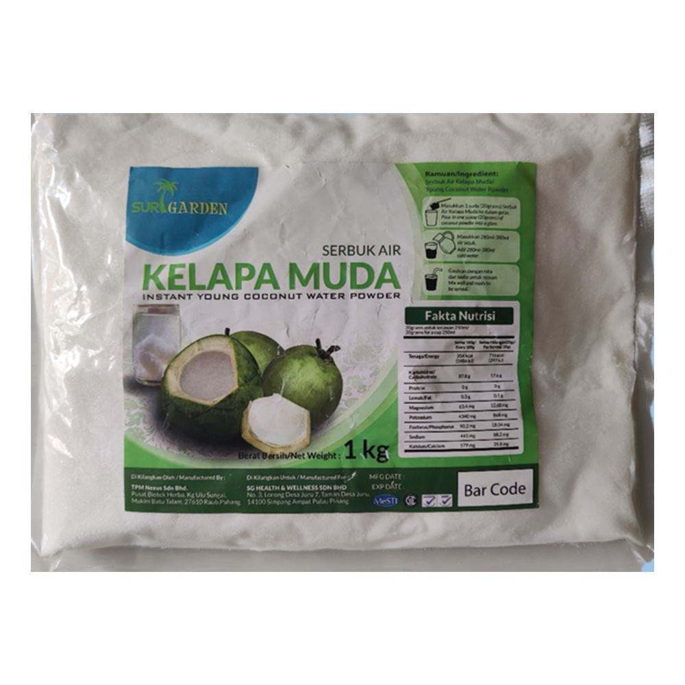 Instant Coconut Water Powder ( 1 Packet = 1kg ) | Coconut drink manufacturer in Malaysia