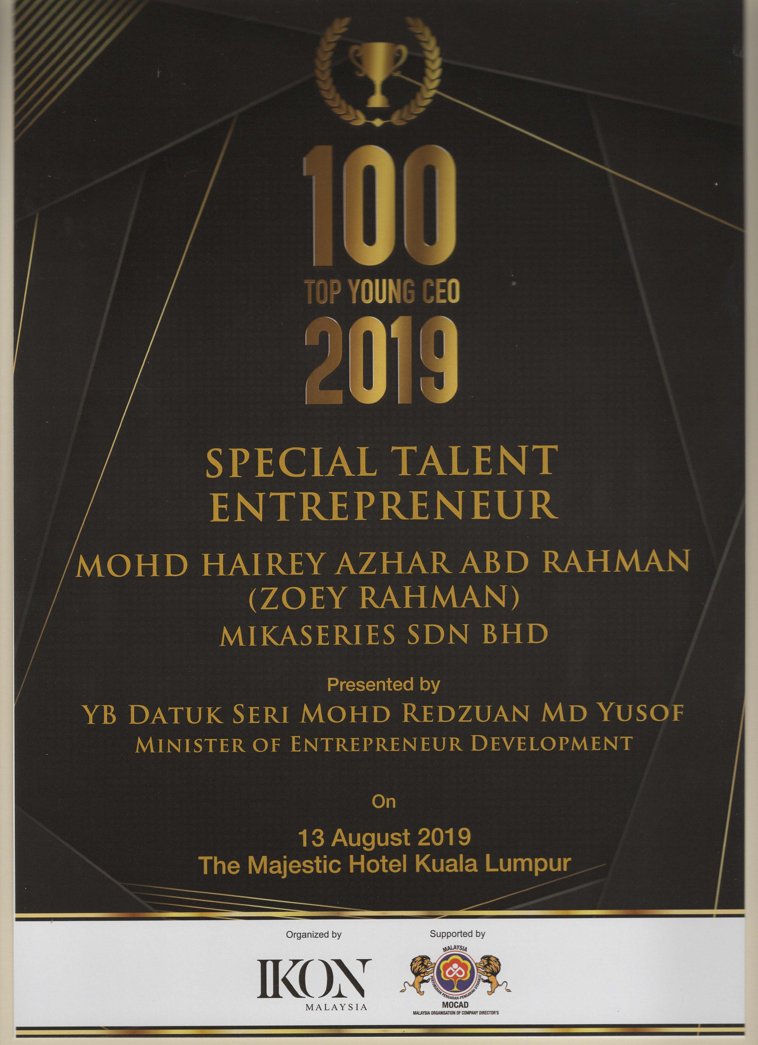 100 Top Young Ceo 2019