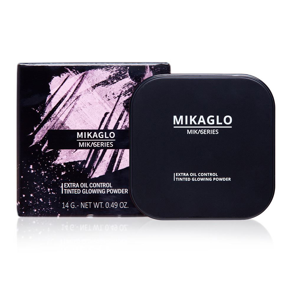Mikaglo Unisex Oil Control & Tinted Glowing Compact Powder