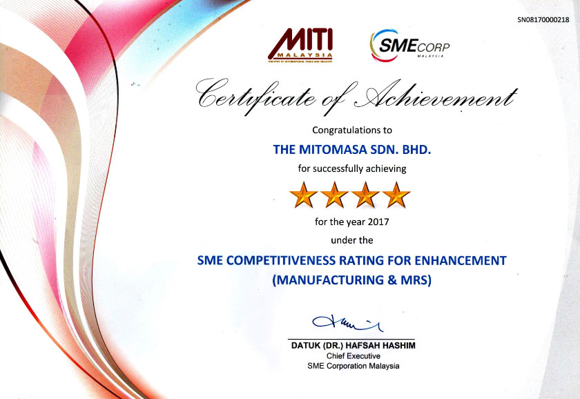 SME Competitiveness Rating for Enhancement (Manufacturing & Mrs)