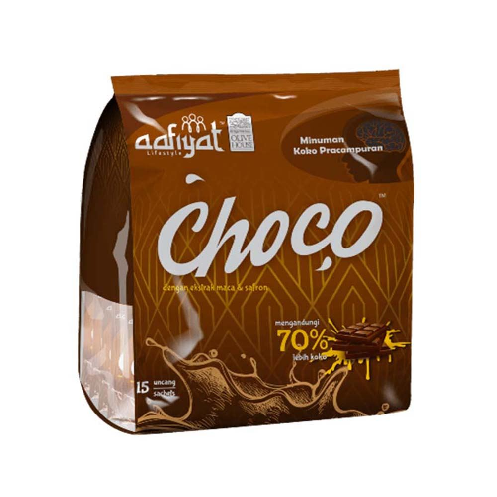Premix Cocoa Drink With Maca and Saffron Extract