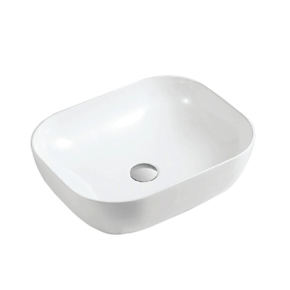 White Ceramic Rectangular Bathroom Sink (CL-1164)