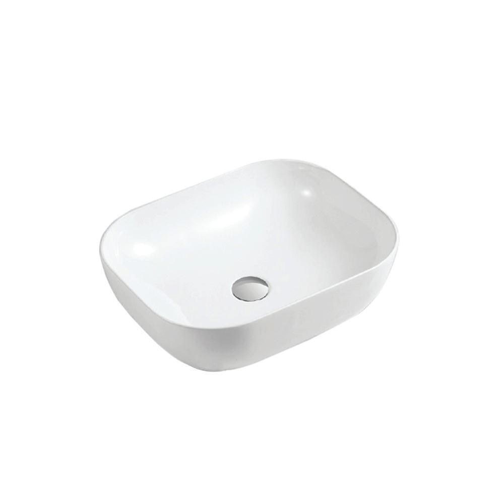 White Ceramic Rectangular Bathroom Sink (CL-1033B)